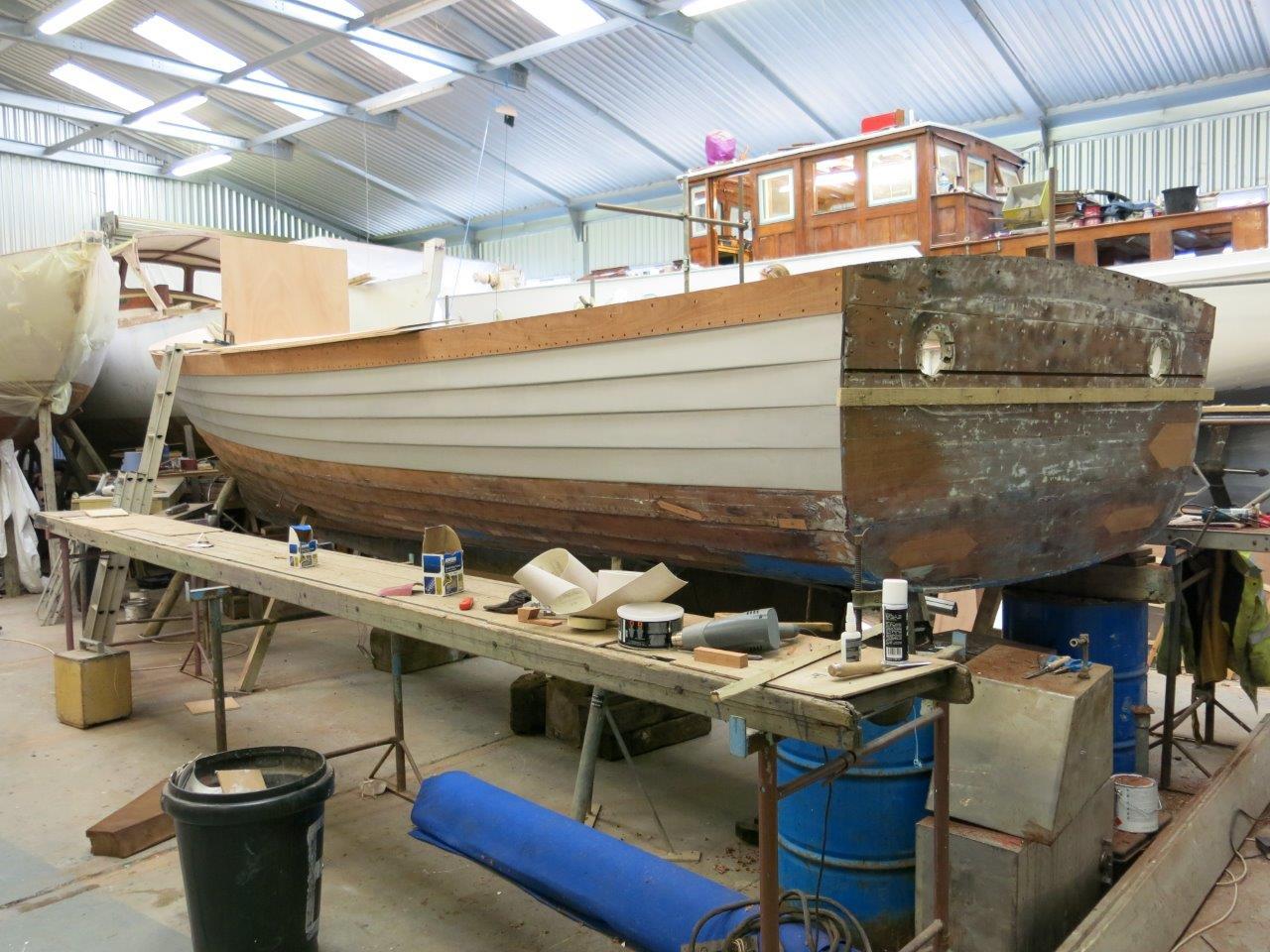 Nigella restoration project in progress in shed