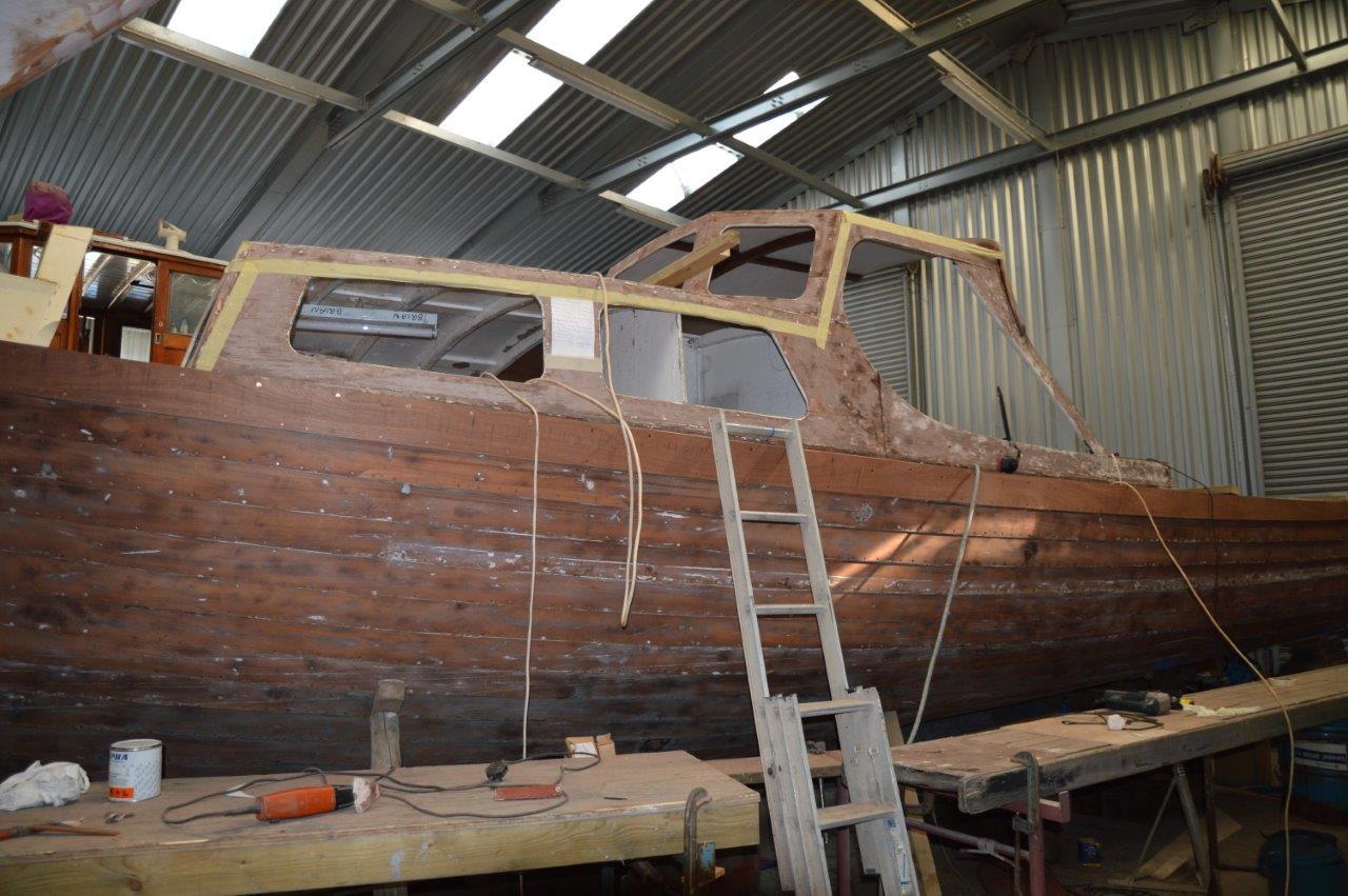 Nigella exterior during restoration